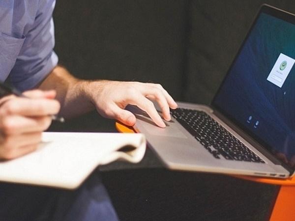 Платёжная система на ноутбуке