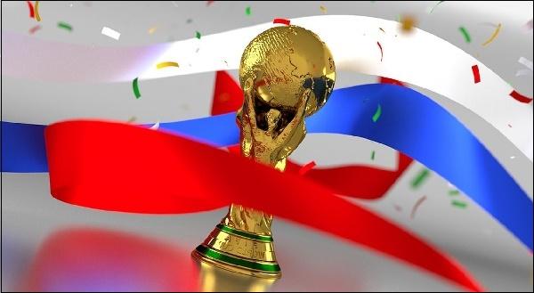 Российский флаг и кубок