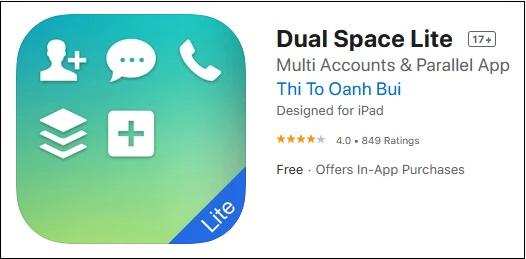 "Приложение ""Dual Space Lite"""