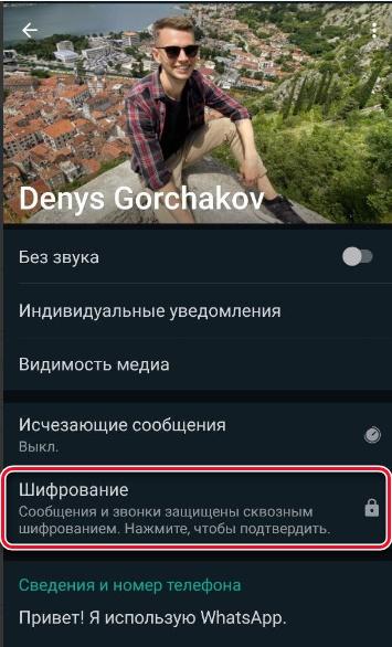 """Раздел """"Шифрование"""""""