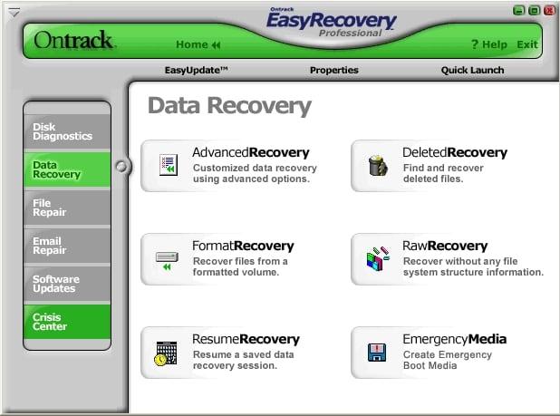 окно программы Ontrack Easy Recovery