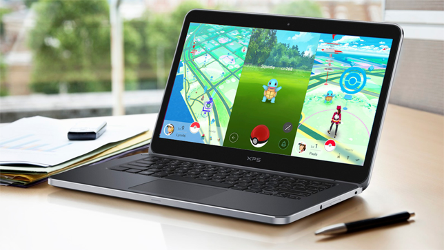 Pokemon go запущена на ноутбуке