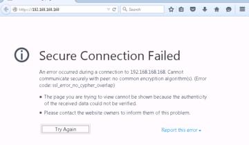 Ошибка SSL в браузере