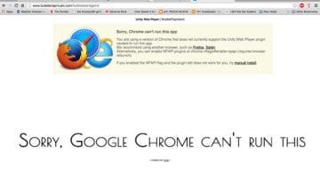 Ошибка Sorry Google Chrome can't run this app