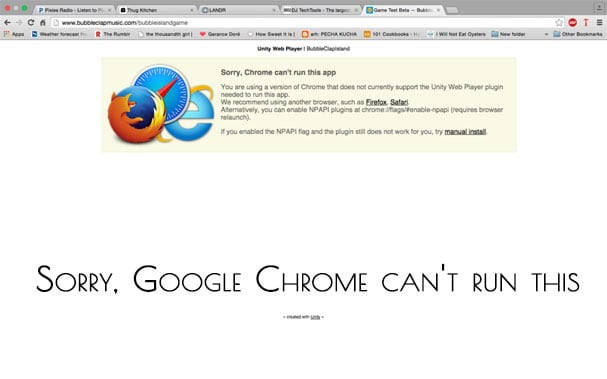 Ошибка Sorry Google Chrome can't run this app