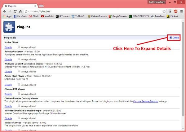 Плагины Google Chrome