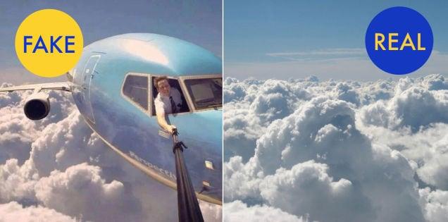 Фейковое и реальное фото