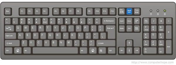 Клавиатура Scroll Lock