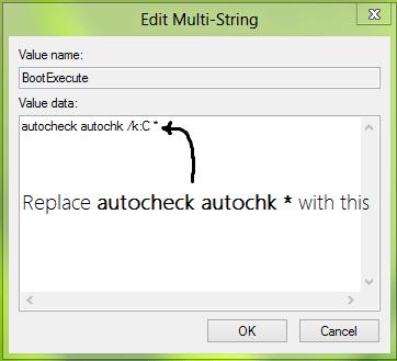 Отключаем утилиту CHKDSK при запуске системы