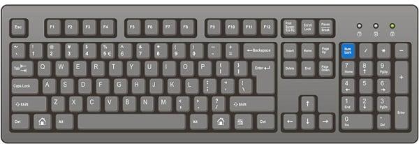 Расположение данной клавиши