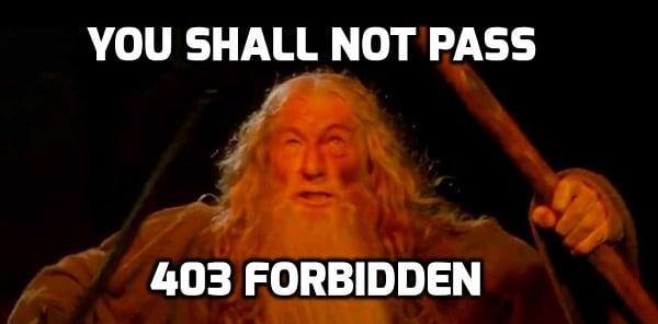 Ты не пройдёшь! Ошибка 403