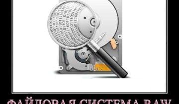 Файловая система RAW и как вернуть NTFS, FAT32