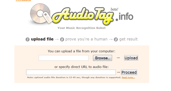 Audiotag - робот для распознавания музыки