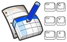 Комбинации клавиш - копировать, вставить и вырезать