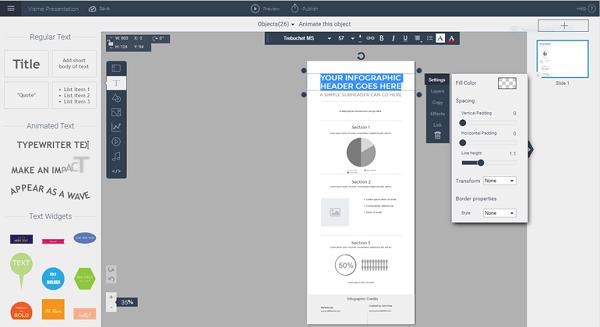 Создаём слайд документ с Visme
