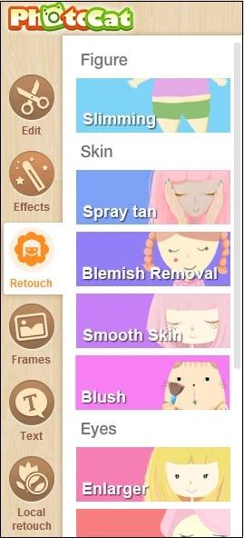 Вкладки Retush.net
