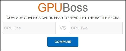 Сравниваем возможности видеокарт онлайн с помощью ресурса gpuboss.com