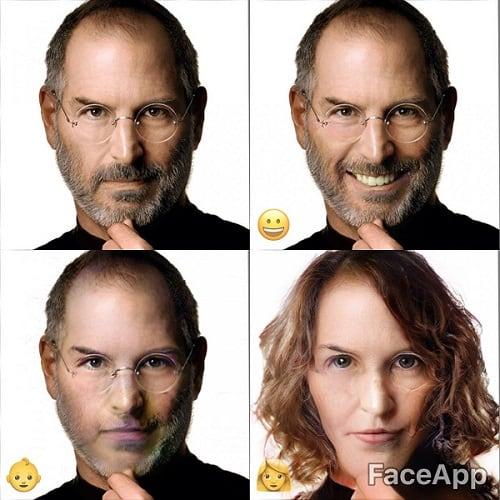 Стив Джобс в образе женщины получился довольно забавным