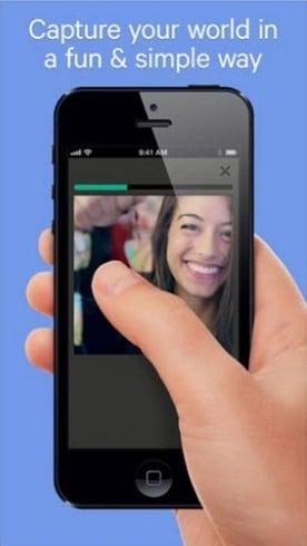 Нажмите пальцем на экран для создания видео