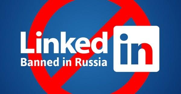 """Ныне """"LinkedIn"""" заблокирован в России"""