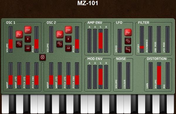 Музыкальный синтезатор на mazbox.com