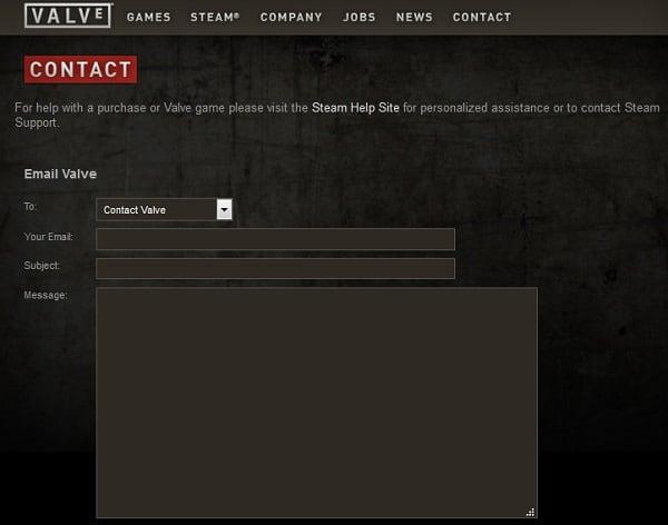 """Попробуйте написать на е-мейл """"Valve"""" - вдруг вам повезёт"""