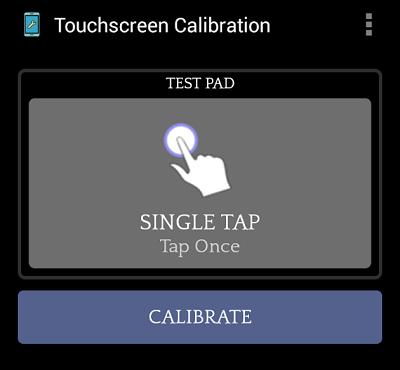 """Воспользуйтесь программой """"Touchscreen Calibration"""" для калибровки вашего устройства"""