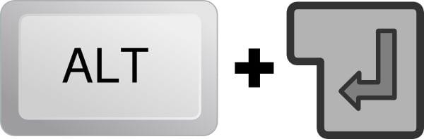 Для выхода из полноэкранного режима в игре просто нажмите Alt+Enter