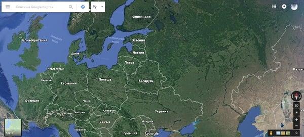 Карты от Гугл - наиболее посещаемый карточный сервис в мире