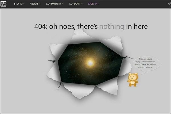Один экран с ошибкой