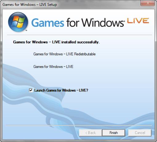 "Установите на ваш ПК ""Games for Windows"""