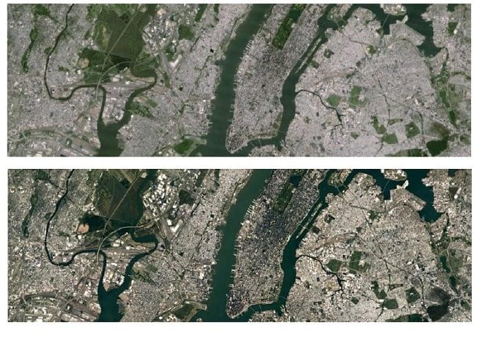 Изображения со спутника Landsat 7 и Landsat 8