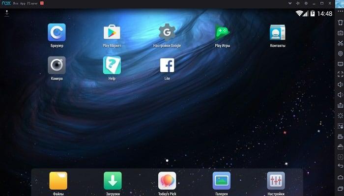 Открываем Nox App Player для игры в Homescapes