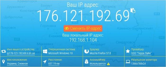 Сервис проверки скорости Интернета 2ip