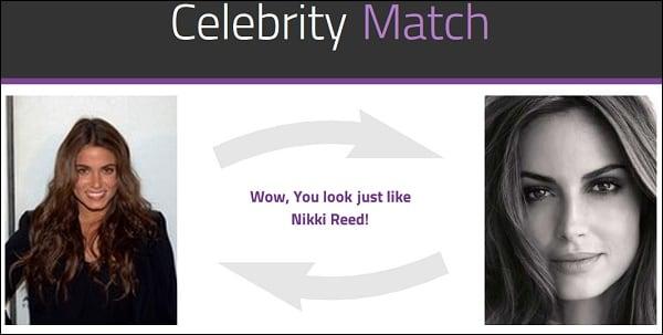Сравните свою схожесть с популярной личностью в celebritymatch.io