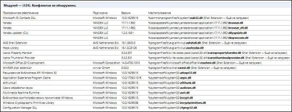 """Перечень модулей в """"Яндекс.Браузер"""""""