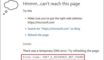 Текст с кодом ошибки
