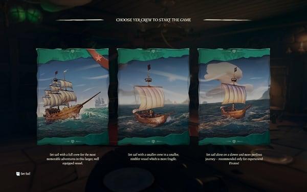 Выбирайте корабль и в путь...