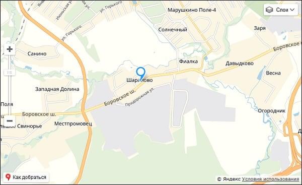 Сортировочный центр Шарапово на карте