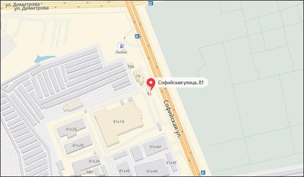 Адрес отделения 200960 на карте