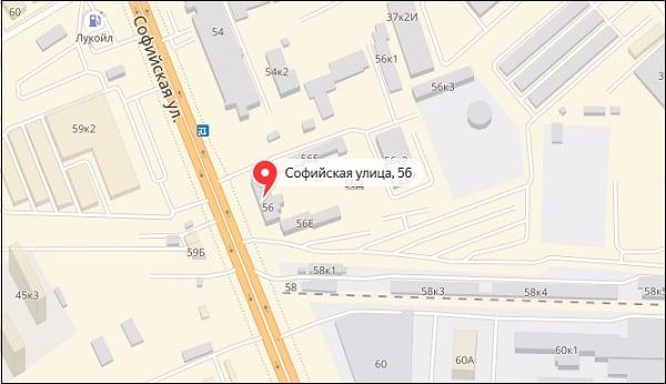 Отделение 190916 на карте