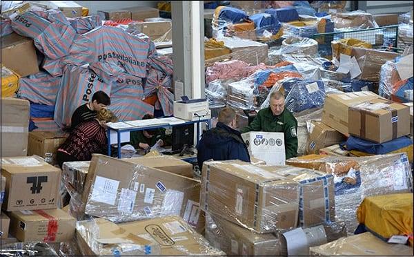 При обилии посылок почтовые отделения могут работать с перебоями