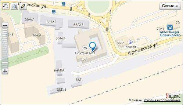 Расположение отделения 111975 на карте