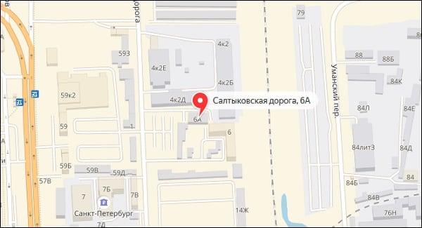 Местоположение отделения 190915 на карте