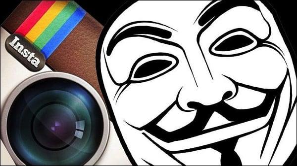 Инстаграм не приветствует анонимность