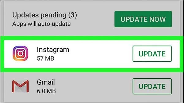 Обновите ваш Инстаграм до самой свежей версии